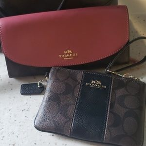 Authentic coach wallet and wristlet